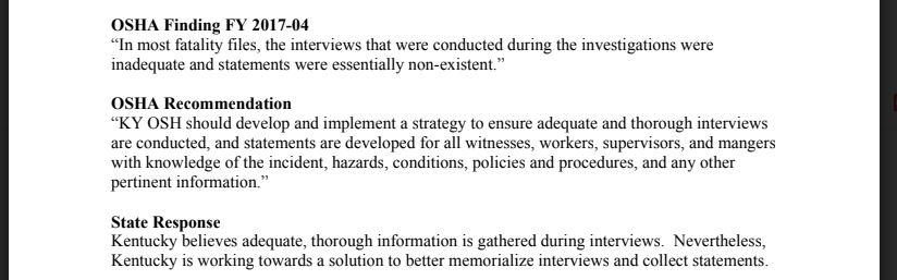 FAME report excerpt